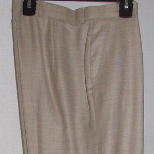 NWOT: Escada Beige Slacks, Size 38